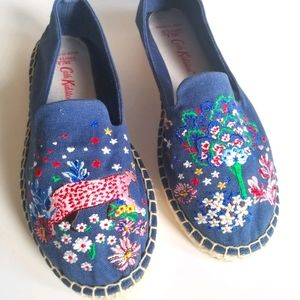 Cath Kidston Fearne Embroidered Espadrilles